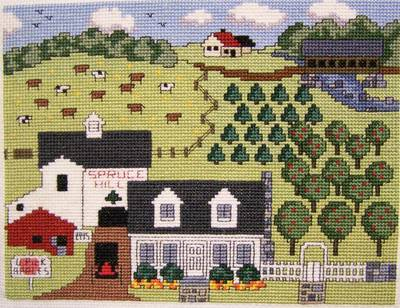 cross stitch pattern Spruce Hill Farm
