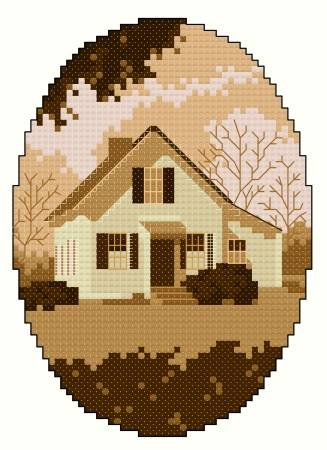 cross stitch pattern Dan Emmett Birthplace