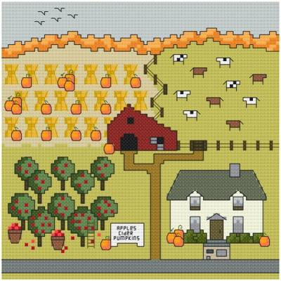 cross stitch pattern Fall's Bounty