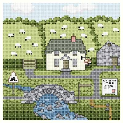 cross stitch pattern Stonebridge Farm