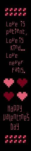 cross stitch pattern Love Never Fails