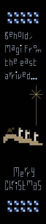 cross stitch pattern Magi Bookmark