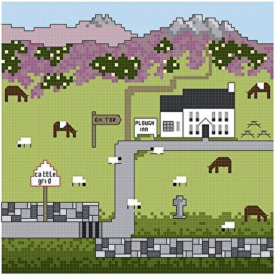 cross stitch pattern Plough Inn at Ox Tor