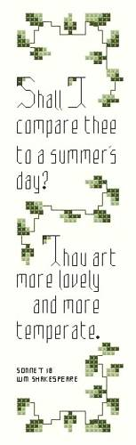 cross stitch pattern A Summer's Day Bookmark