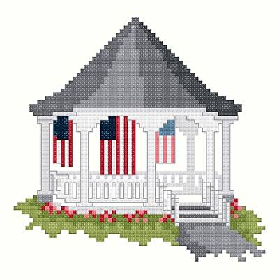 cross stitch pattern American Bandstand