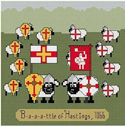 cross stitch pattern B-a-a-a-ttle of Hastings