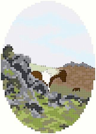 cross stitch pattern On Cox Tor