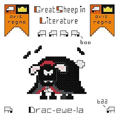 cross stitch pattern Drac-ewe-la