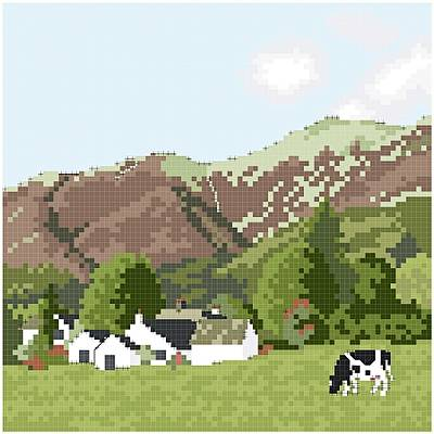 cross stitch pattern Nestled in the Fells