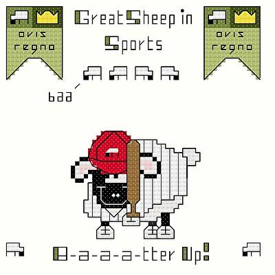 cross stitch pattern B-a-a-a-tter Up