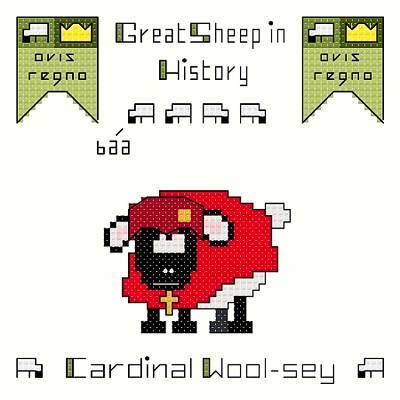 cross stitch pattern Cardinal Wool-sey