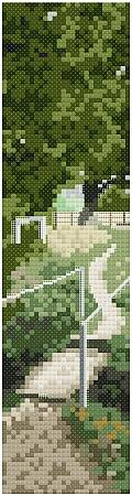 cross stitch pattern Along Monarxh's Way