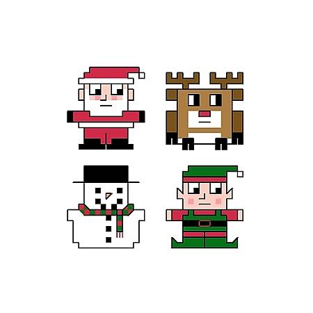 cross stitch pattern Christmas Quad Figures