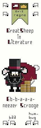 cross stitch pattern Eb-b-a-a-a-neezer Scrooge Bookmark