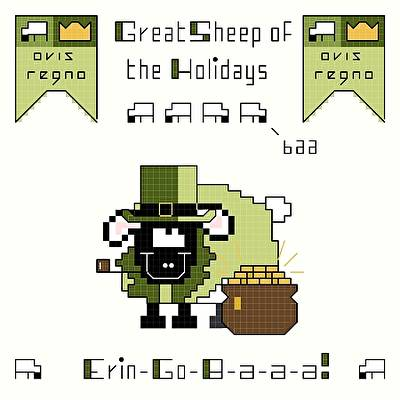 cross stitch pattern Erin-Go-B-a-a-a