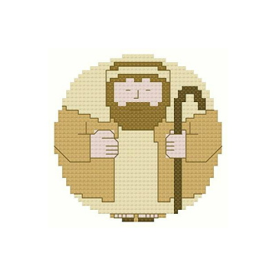 cross stitch pattern Roundabout Joseph Ornament