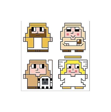 cross stitch pattern Nativity Quad Set