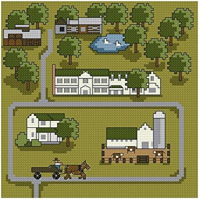 cross stitch pattern Pleasant Valley
