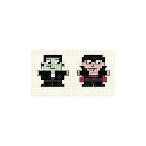 cross stitch pattern Mini Halloween Figures