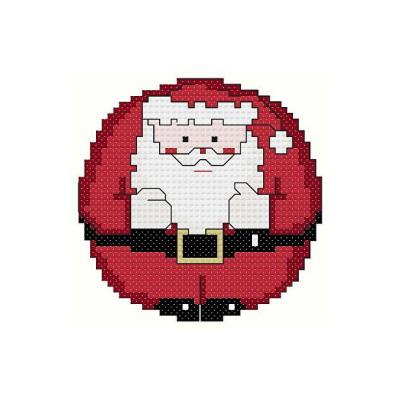 cross stitch pattern Roundabout Santa Ornament