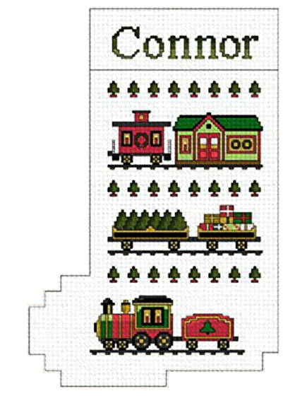 cross stitch pattern The Christmas Express Stocking
