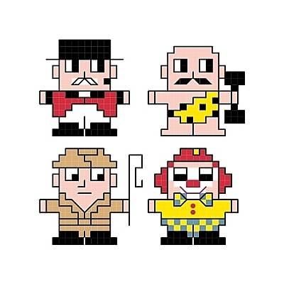 cross stitch pattern Circus Quad Set