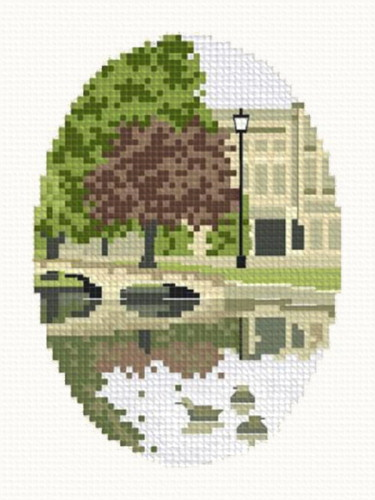cross stitch pattern Morning Swim