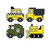 cross stitch pattern Quad Work Vehicles
