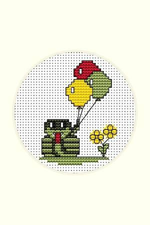cross stitch pattern Snake with Balloons