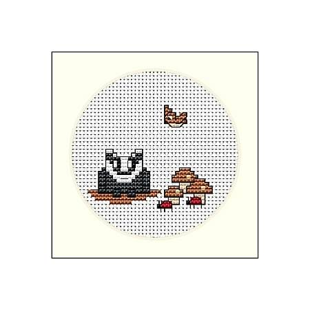 cross stitch pattern Badger and Ladybugs