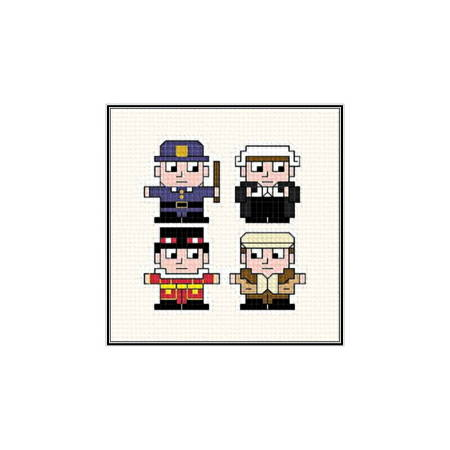 cross stitch pattern British Gents