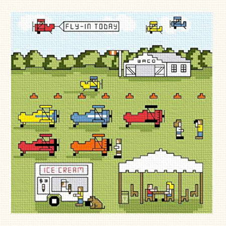 cross stitch pattern Fly-In