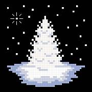 cross stitch pattern White Christmas