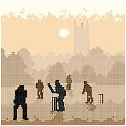 cross stitch pattern Cricket Silhouette