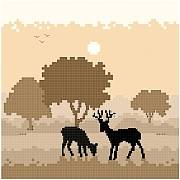 cross stitch pattern Deer Silhouette