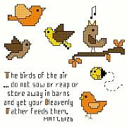 cross stitch pattern Birds of the Air