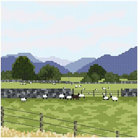 cross stitch pattern Cumbrian Sheep