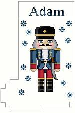 cross stitch pattern Nutcracker Stocking
