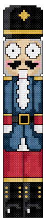 cross stitch pattern Googlie Nutcracker Bookmark