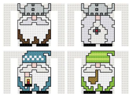 cross stitch pattern Gnomies I