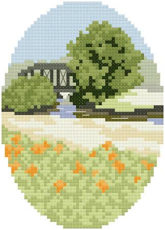 cross stitch pattern Daylilies
