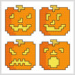 cross stitch pattern Quad Jack O Lanterns