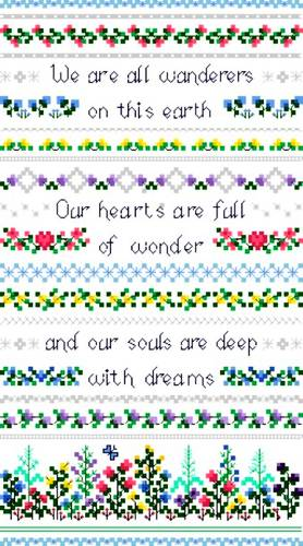 cross stitch pattern Dreams