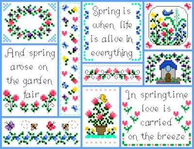 cross stitch pattern Springtime