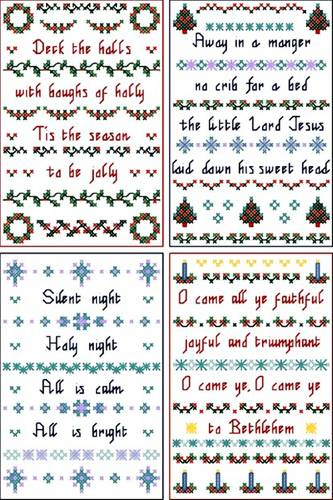 cross stitch pattern Christmas cards