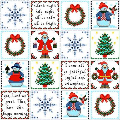 cross stitch pattern Christmas Patches