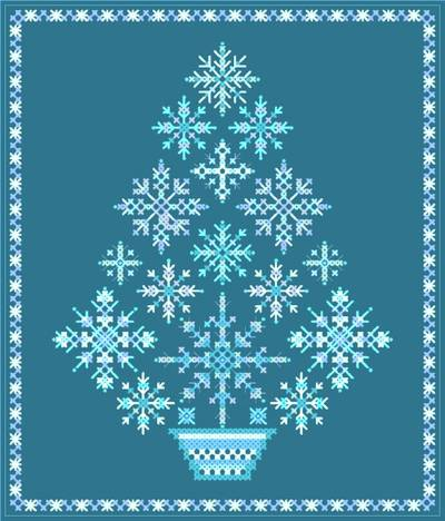 cross stitch pattern Snowflake Tree