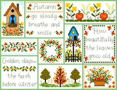 cross stitch pattern Autumntime