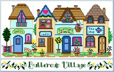 cross stitch pattern Buttercup Village