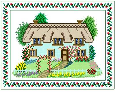 cross stitch pattern Country Cottage
